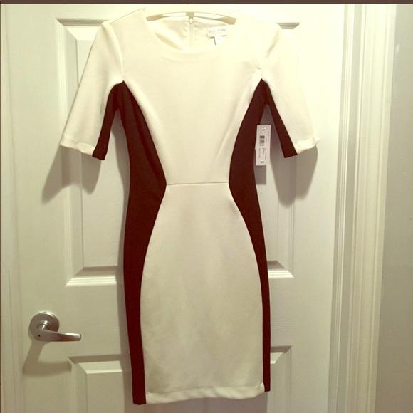 f5544025067b2 Bisou Bisou Dresses & Skirts - Bisou Bisou size 4 black and white midi dress